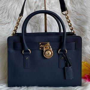 Michael Kors Medium Hamilton EW Leather Satchel